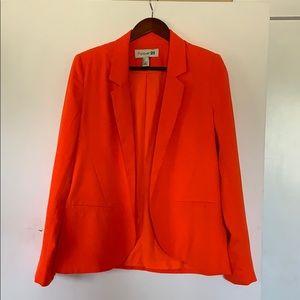 Forever 21 bright orange blazer (size L)